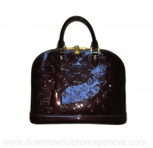 Louis Vuitton Alma PM bag in amarante patent leather