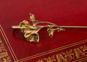 Marque-pages laiton et or - gingko