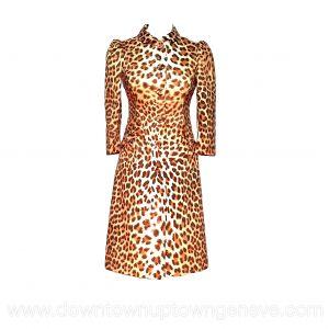 Blumarine trench coat in leopard print