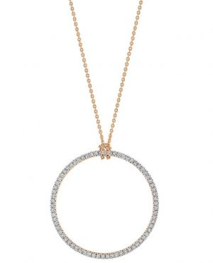 Collier en or et diamants Baby Diamond Circle On Chain