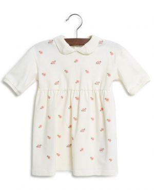 Robe polo bébé brodée de fleurs GG