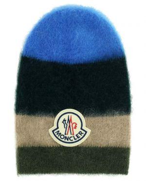 Bonnet long en mohair et laine mélangée