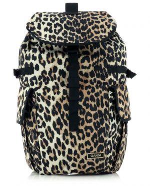 Sac à dos imprimé léopard en fibres recyclées