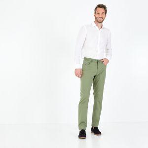Pantalon kaki en coton stretch