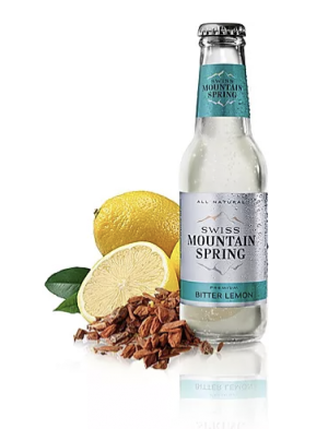 24 X SWISS MOUNTAIN SPRING BITTER LEMON Bottle 200ml
