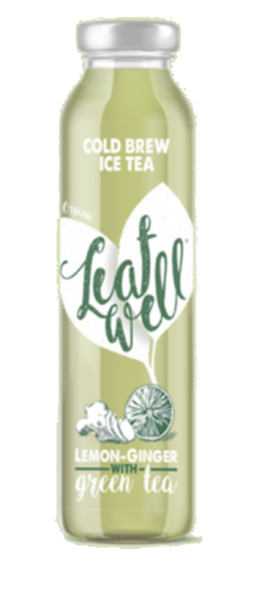6 X Leafwell ICE TEA LEMON-GINGER Bottle 330ml