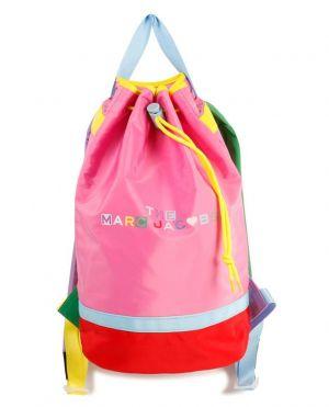 Sac à dos fille en nylon multicolore imprimé logo