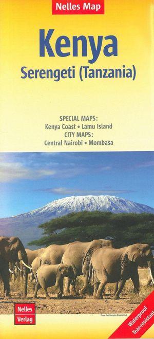 Kenya - Serengeti (Tanzania) 1/1 100 000 de  Nelles