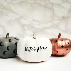 Witch Please Pumpkin Sticker, Halloween Decor