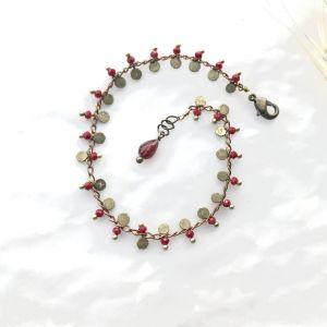 Bracelet Gligli bordeau