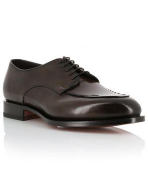 Chaussures à lacets en cuir brillant