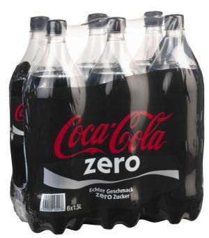 COCA-COLA ZERO PACK DE 6*1.5 L