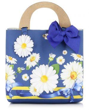 Mini-sac cabas en tissu Marguerites