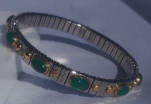bracelet extension 10 pierres / or jaune 18kt