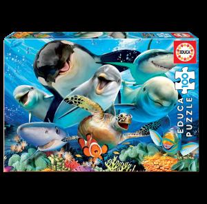 Puzzle 100 pcs - Selfie Sous-Marin