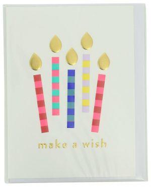 Carte d'anniversaire Make a wish avec enveloppe