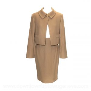 Dior vintage skirt suit in camel-coloured cashmere