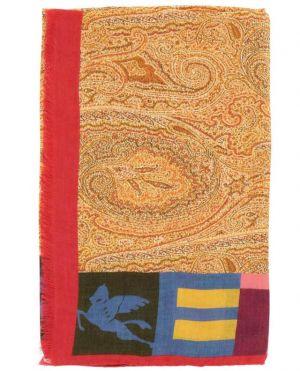 Echarpe légère avec imprimé Paisley Delhy et logo