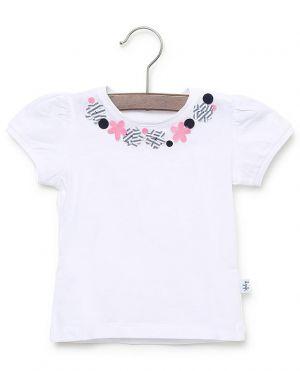 T-shirt en jersey fleurs appliquées