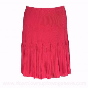 Alaia skirt in hot-pink weave with flares