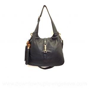 Gucci Jackie vintage bag in black grained leather