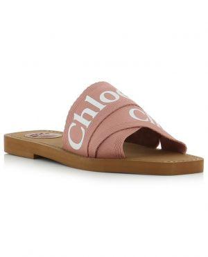 Sandales plates avec logo Woody