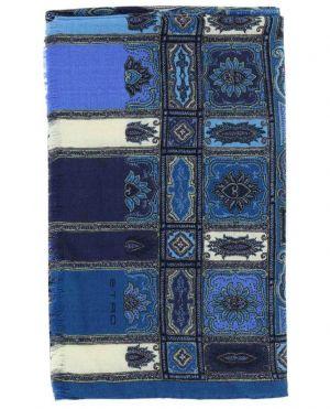 Echarpe en laine et soie avec imprimé tapis Delhy