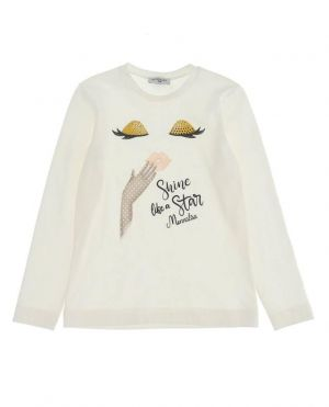 T-shirt fille en coton Shine like a star