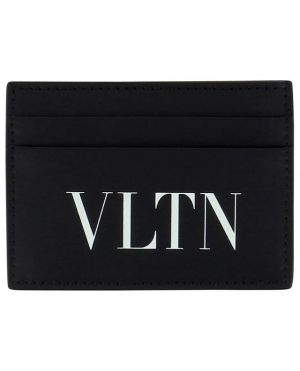 Porte-cartes en cuir lisse VLTN