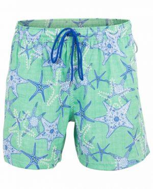 Short de bain imprimé étoiles de mer Morea Maui