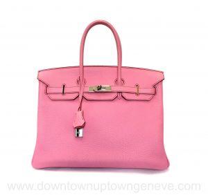 Hermès Birkin 35 bag in rose sakura Togo PHW