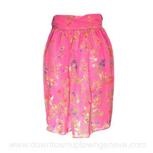 Lacroix vintage skirt in pink and multicoloured flower print silk