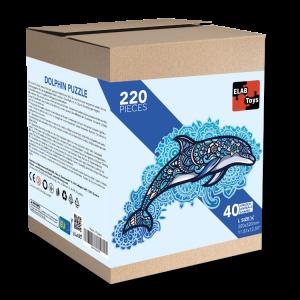 Puzzle 220 pièces - Dauphin - 2 en 1