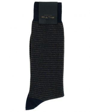 Chaussettes en coton et cachemire mélangés motifs pied-de-poule Bombay