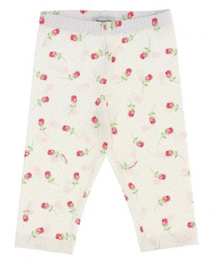 Legging pour bébé en jersey imprimé floral Bocciolini