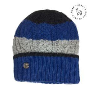 Bonnet Bleu, Gris & Noir