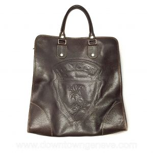 Gucci cabas bag in brown leather