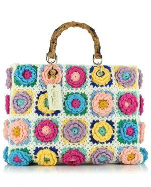 Sac cabas motif fleurs Victoria Crochet