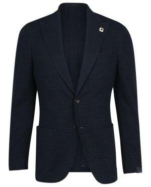 Blazer en jersey motif pied-de-poule Tessuto Esclusivo