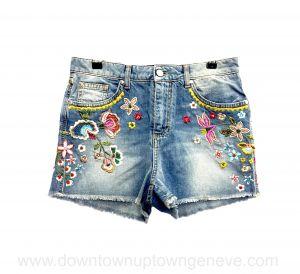 Ermanno Scervino mini shorts in embroidered denim