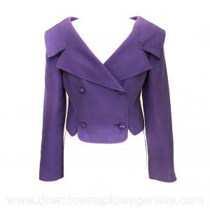 Valentino vintage bolero in purple silk