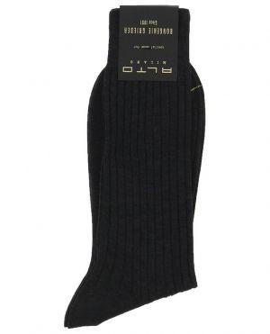 Chaussettes courtes fines en maille côtelée