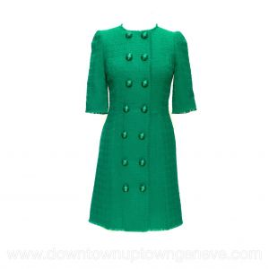 Dolce & Gabbana dress in green tweed