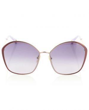 Grandes lunettes de soleil aviateur en métal Irene