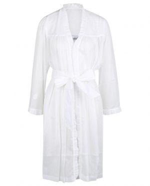 Robe de chambre en voile de coton à volants Celeste-1