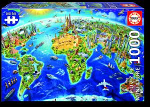 Puzzle 1000 pcs - Symboles du Monde Miniature