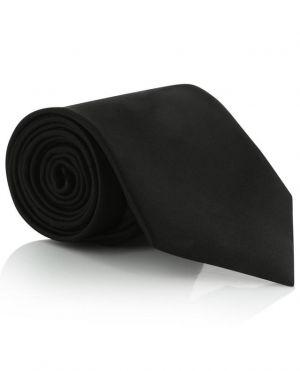 Cravate en satin détail passant