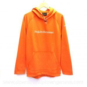 Peak Performance hoodie in orange polyester