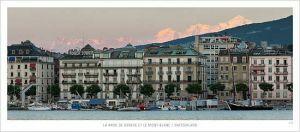 cartes postales panoramiques (lot de 10) - vue de la rade de Genève