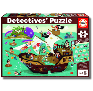 Puzzle Detective 50 pcs - Pirates